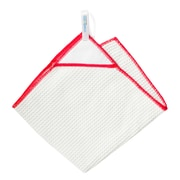 KMN Magnetic Towel Microfiber Kitchen Towel; White/Red