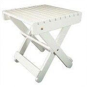 Manchester Wood Solid Maple  Adirondack Side Table; Pure White