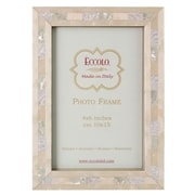 EccoloLtd Marquetry Opalescent Wedding Picture Frame; 5'' x 7''