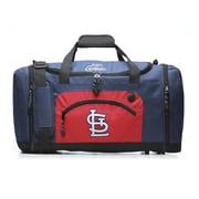 ConceptOneAccessories MLB 20'' Roadblock Travel Duffel; St Louis Cardinals - Blue