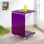 Fox Hill Trading Pure D cor End Table; Purple