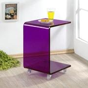 Fox Hill Trading Pure D cor End Table; Purple