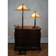 DynamicWay Serena d'italia 2 Piece Floor Lamp and Table Lamp Set with Empire Shade
