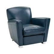 Sunpan Modern Club Presidente Arm Chair; Blue Nobility