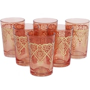 Found Object Punto Moroccan Tea Glass (Set of 6); Orange
