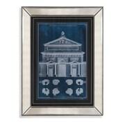 Bassett Mirror Palace Facade Blueprint I Framed Painting Print