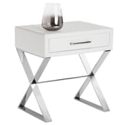 Sunpan Modern Club Casa End Table; White Nobility