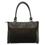 U.S. Traveler Ladies Business Zip-Top Computer Causal Tote; Brown