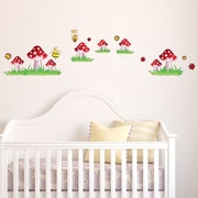 Style and Apply Colorful Mushroom Wall Decal