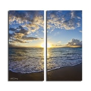 Ready2hangart 'Sun and Sea' by Christopher Doherty 2 Piece Photographic Print on Wrapped Canvas Set