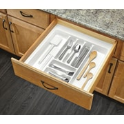 Rev-A-Shelf Extra Large Cutlery Organizer; White