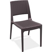 Siesta Exclusive Verona Armless Stacking Chair; Brown