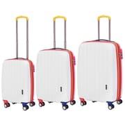 Travelers Polo & Racquet Club Get Away 3 Piece Luggage Set; White