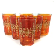 Found Object Souad Moroccan Tea Glass (Set of 6); Orange