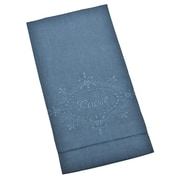 Saro Guest Embroidered Towel (Set of 4); Blue