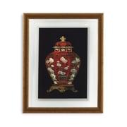 Bassett Mirror Red Porcelain Vase I Framed Painting Print