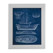 Bassett Mirror Antique Ship Blueprint II Framed Graphic Art