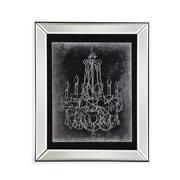 Bassett Mirror 'Chalkboard Chandelier Sketch III' Framed Graphic Art
