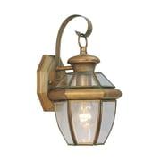 Livex Lighting Monterey  Outdoor Wall Lantern in Vintage Brass
