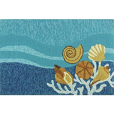 Homefires Shell Turquoise Area Rug; 3' x 5'