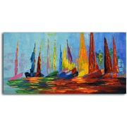 Omax Decor 'Vibrant Sea Day' Original Painting on Canvas