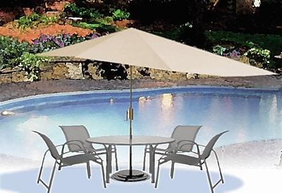 Shade Trend 16' Market Umbrella; White WYF078277766725