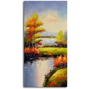 Omax Decor 'Peaceful Solitude' Original Painting on Canvas