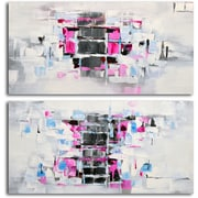 Omax Decor 'Extrovert and Introvert' 2 Piece Original Painting on Canvas Set