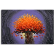 Omax Decor 'Orange and Purple Haze' Original Painting on Canvas