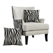 Emerald Home Furnishings Out Of Africa Arm Chair; Kipling Donino Zenda Cream