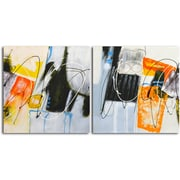 Omax Decor 'Coloring Outside the Lines (I and II)' 2 Piece Original Painting on Canvas Set