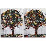 Omax Decor 'Tree of Knowledge' 2 Piece Painting Print on Canvas Set