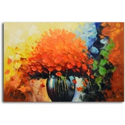 Omax Decor 'Summer Sunset in a Vase' Original Painting on Canvas