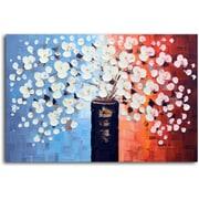 Omax Decor 'Spring's Answer to Snow' Original Painting on Canvas