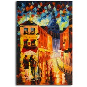 Omax Decor 'Night Life' Original Painting on Canvas