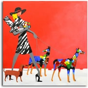 Omax Decor 'Fashion-Forward Dogs' Original Painting on Canvas