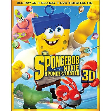 The Spongebob Movie: Sponge Out of Water (3D Blu-ray/Blu-ray/DVD)