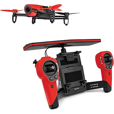 Parrot Bebop Drone, SkyController Bundle, Red (PF725100)