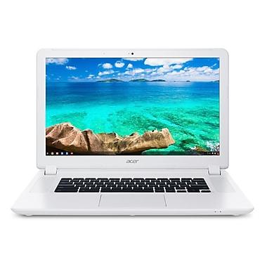 Acer - Portatif Chromebook NCB5-571-C553, 15,6 po, 1,6GHz Intel 3205U, RAM 4 Go, DD 16 Go, blanc, bilingue