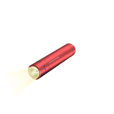 Powerocks Flashlight Magicstick 3000 mAh Portable Power Bank, Red