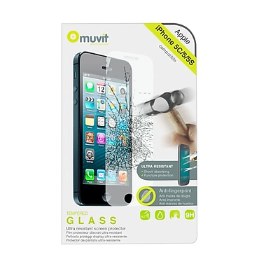 Muvit iPhone 5/5S/5C Tempered Glass Screen Protector, 0.33mm