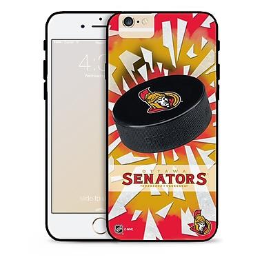 LNH – Étui des Sénateurs d'Ottawa pour iPhone 6, rondelle et éclats de verre, édition limitée