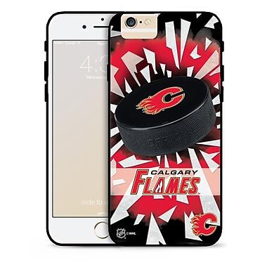 LNH – Étui Flames de Calgary, rondelle et éclats, pour iPhone 6, édition limitée