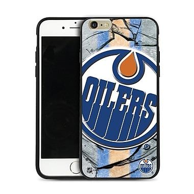 LNH – Étui Oilers d'Edmonton, grand logo, pour iPhone 6 Plus, édition limitée