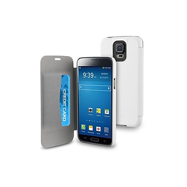 Muvit Samsung Galaxy S5 Easy Folio Case with Cardslots, White