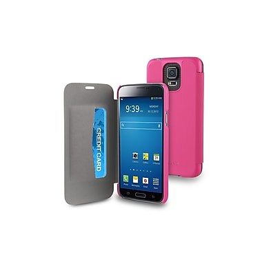 Muvit Samsung Galaxy S5 Easy Folio Case with Cardslots, Pink