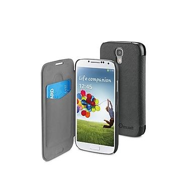 Muvit Samsung Galaxy S4 Easy Folio Case, Purple