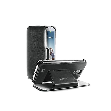 Muvit Samsung Galaxy S4 Folio Stand Case with Cardslot, Black