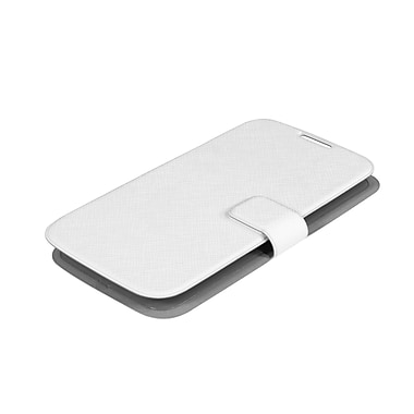 Muvit Samsung Galaxy S4 Ultrathin Book Style Case, White