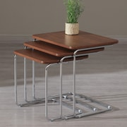 La Viola D cor Kent 3 Piece Nesting Tables; Walnut